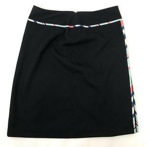 Ann Taylor Loft A Line Skirt Black Zipper Sz 6